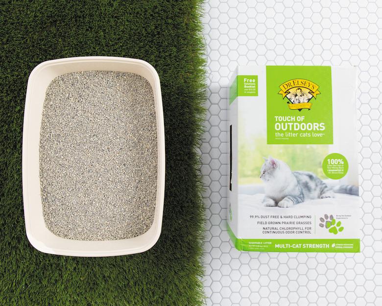 Arena para gatos ecológica